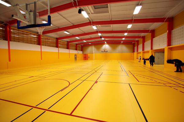 Halle de sports l o lagrange transformation et extension d - Piscine leo lagrange grande synthe ...